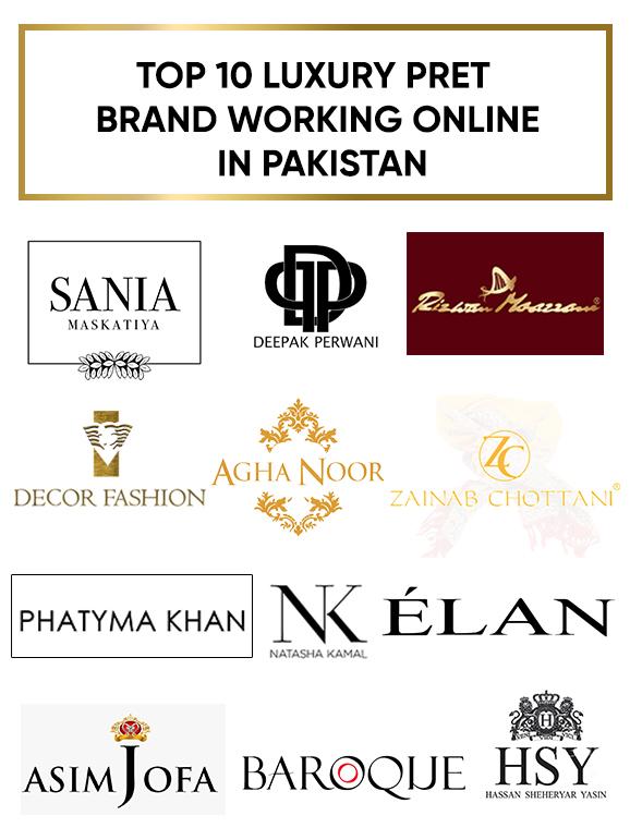 Top 10 Luxury Pret Brands Working Online in Pakistan