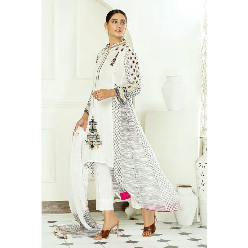 Decor Fashion White Bloom PM1302 Formal Wear